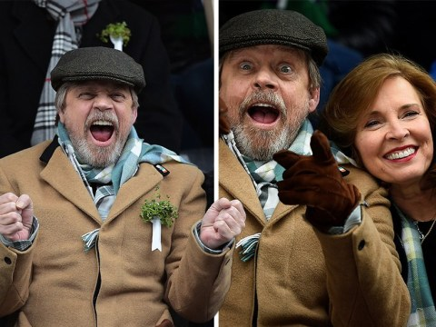 Mark Hamill and his wife Marilou York are in high spirits as they celebrate St Patrick's Day