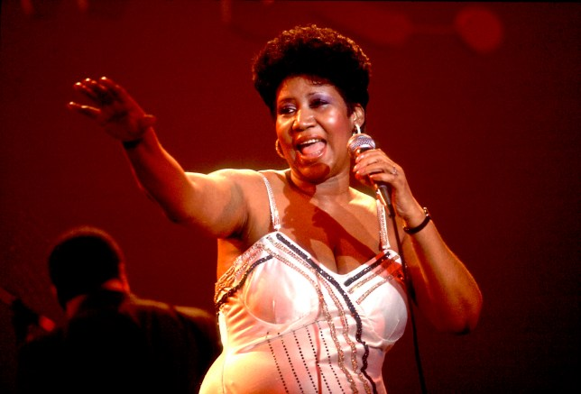 American musician Aretha Franklin performs on stage at the Park West Auditorium, Chicago, Illinois, March 23, 1992. (Photo by Paul Natkin/Getty Images)