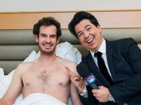 Andy Murray is terrified as comedian Michael McIntyre bursts into his bedroom in middle of the night