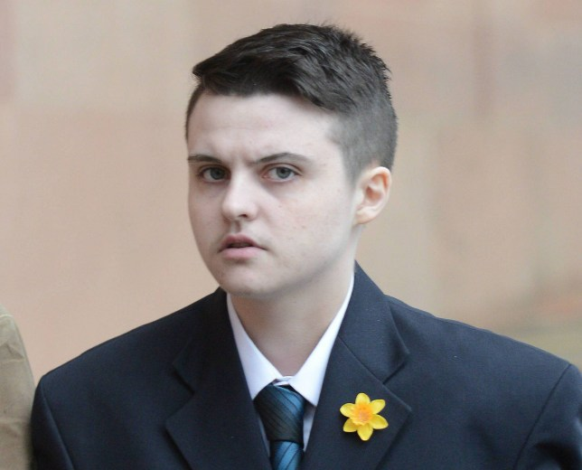 Dated: 19/03/2018 Transgender Shayne Robson, 22, who threatened to publish a gay man's 'compromising' pictures on the internet, unless the man continued to continue to pay him thousands of pounds, received a suspended sentence at Newcastle Crown Court after pleading guilty to blackmail. File image of Robson outside Newcastle Crown Court - dated: 12/03/18 SEE COPY FROM NORTH NEWS