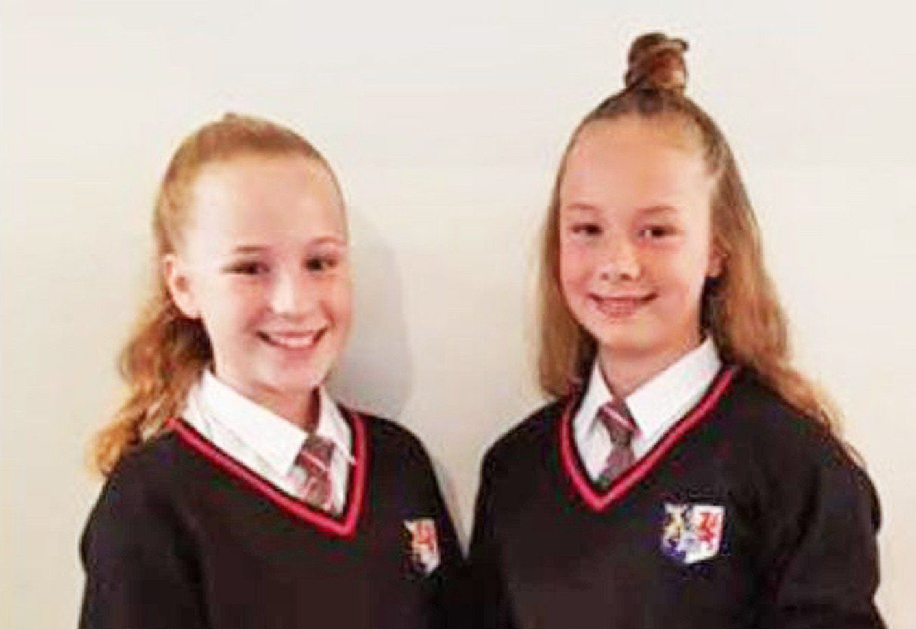 Pic by HotSpot Media - TEENS SCRAWL OFFENSIVE WORDS ACROSS FACE TO MAKE STAND AGAINST BULLYING - IN PIC - (L-R) Halli-Marie, 13, with cousin Charli-jai, 13, from Cardiff - A mum -of- four has shared a shocking video online showing the devastating impact bullying has had on her teenage daughter and niece. Donna Wilson, 35, from Cardiff, said that daughter Halli-Marie, and niece Charli-jai, both 13, wanted to raise awareness of bullying. The girls, who attend Cantonian High School in Cardiff, scrawled dozens of offensive words that bullies have called them all over their face and chest, including; 'slag', 'bitch' and 'anorexic', to highlight the issue. Donna, who works in a cafe, shared the video, which sees the girls candidly discuss bullying and encouraged people to repost it to show the negative impact it has on school children. The controversial footage has since racked up over 30,000 views and 600 shares. SEE HOTSPOT MEDIA COPY 0121 551 1004