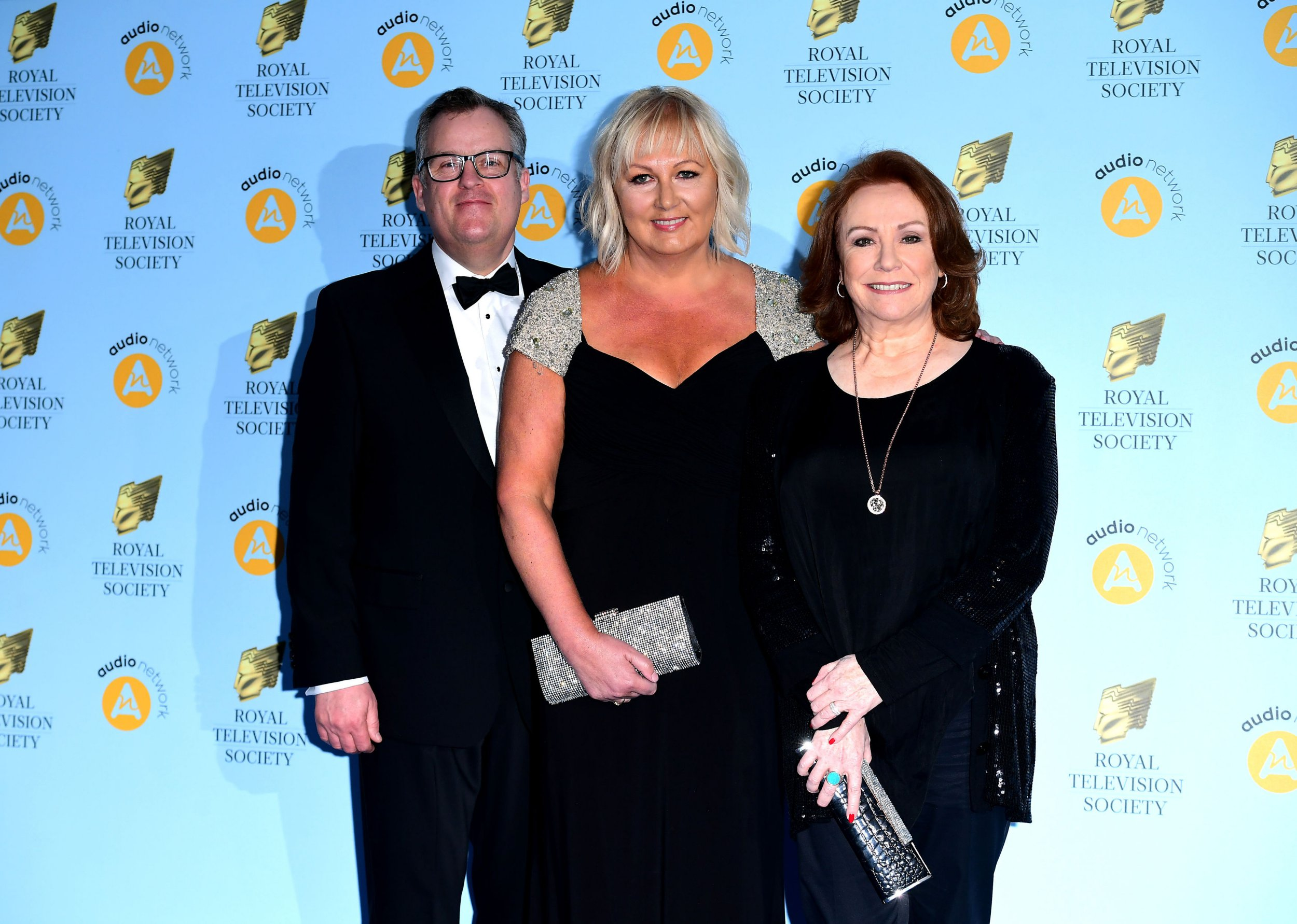 Peter Gunn, Sue Cleaver and Melanie Hill attending the Royal Television Society Programme Awards at Grosvenor House Hotel, Park Lane, London. PRESS ASSOCIATION Photo. Picture date: Tuesday 20th March, 2018. Photo credit should read: Ian West/PA Wire