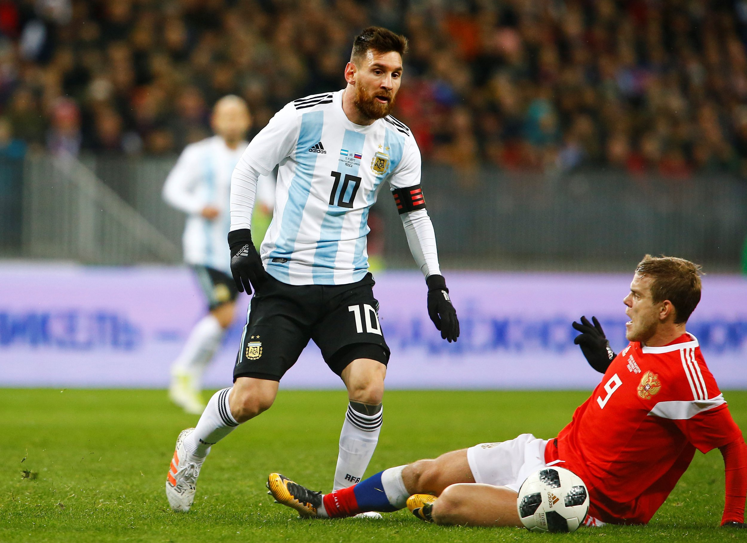 Lionel Messi 'held captive' by Isis jihadi in poster promoting terror at Russia World Cup