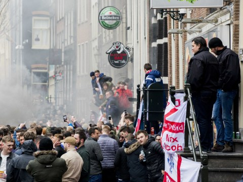 Over 100 England fans arrested in Amsterdam after travelling to football match