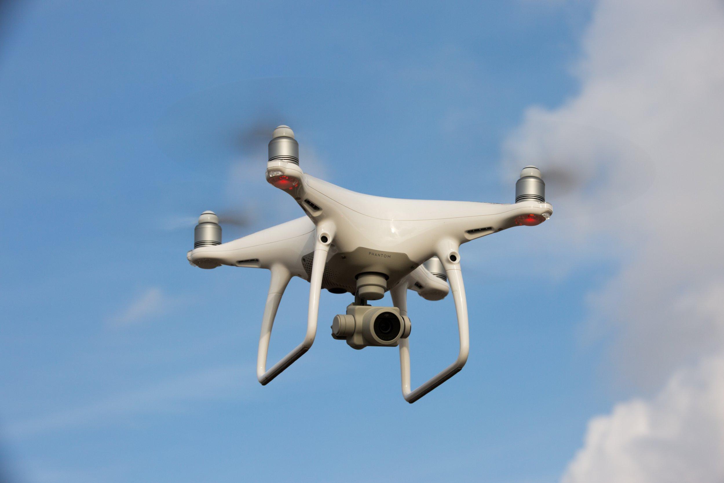 Mandatory Credit: Photo by Geoff Robinson Photography/REX/Shutterstock (9457003g) DJI Phantom 4 Pro drone flying. DJI Phantom 4 Pro Drone, UK - Feb 2018