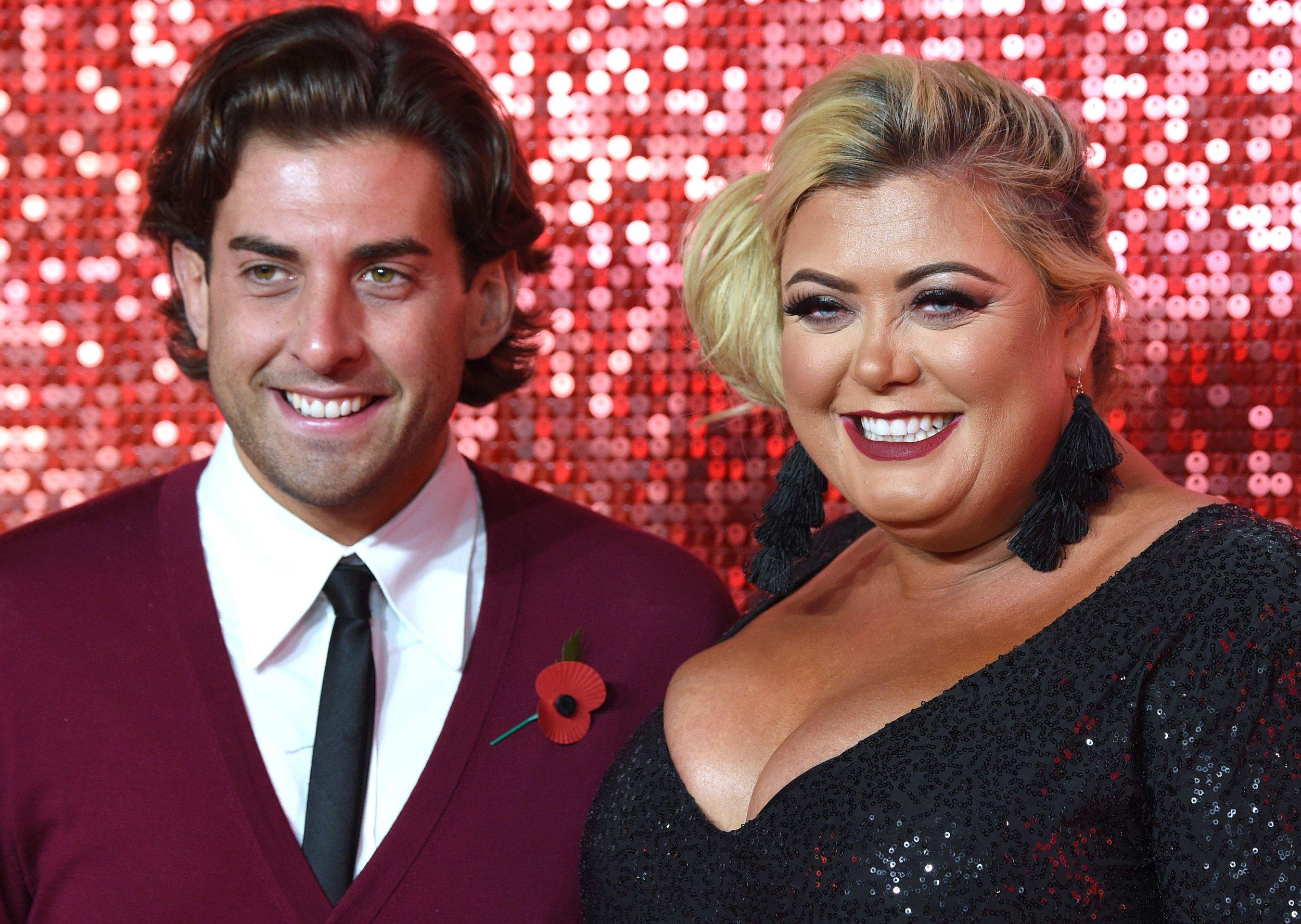 Mandatory Credit: Photo by Anthony Harvey/REX/Shutterstock (9215613f) James Argent and Gemma Collins The ITV Gala, Arrivals, London Palladium, UK - 09 Nov 2017