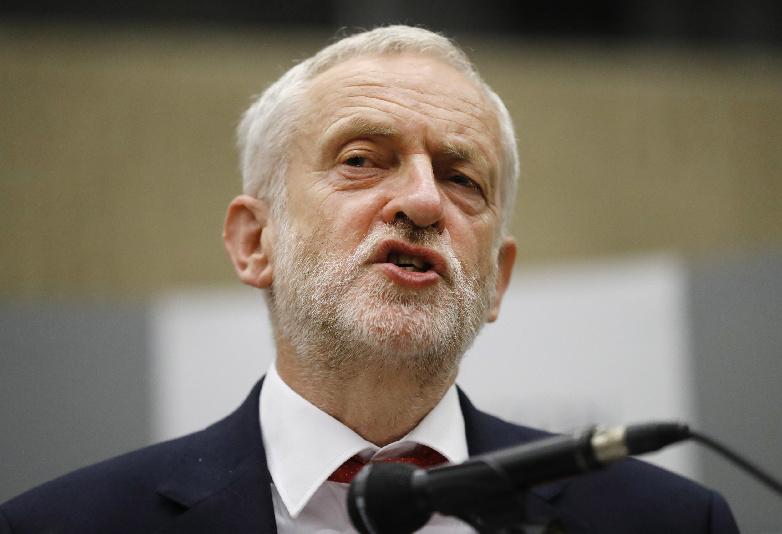 "FILE - This is a Friday, June 9, 2017 file photo of Britain's Labour Party leader Jeremy Corbyn as he makes an address after he retained his parliamentary seat in Islington north London, Jewish groups in Britain on Monday March 26, 2018 were accusing the country's main opposition leader of failing to stamp out anti-Semitism within his left-of-center party. The Board of Deputies of British Jews and the Jewish Leadership Council say Jeremy Corbyn's Labour Party has shown a ""repeated institutional failure"" to address anti-Jewish prejudice. (AP Photo/Frank Augstein, File)"
