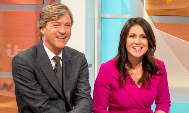 EDITORIAL USE ONLY. NO MERCHANDISING Mandatory Credit: Photo by Ken McKay/ITV/REX/Shutterstock (9478805bc) Richard Madeley and Susanna Reid 'Good Morning Britain' TV show, London, UK - 27 Mar 2018