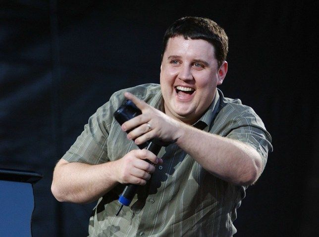 DUBLIN, IRELAND - JULY 29: Comedian Peter Kay performs in support of US singer and pianist Billy Joel, to an audience of 47,000, at Croke Park on July 29, 2006 in Dublin, Ireland. (Photo by ShowBizIreland/Getty Images)