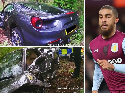 Footballer's brother-in-law crashed his brand new £250,000 Ferrari into a tree