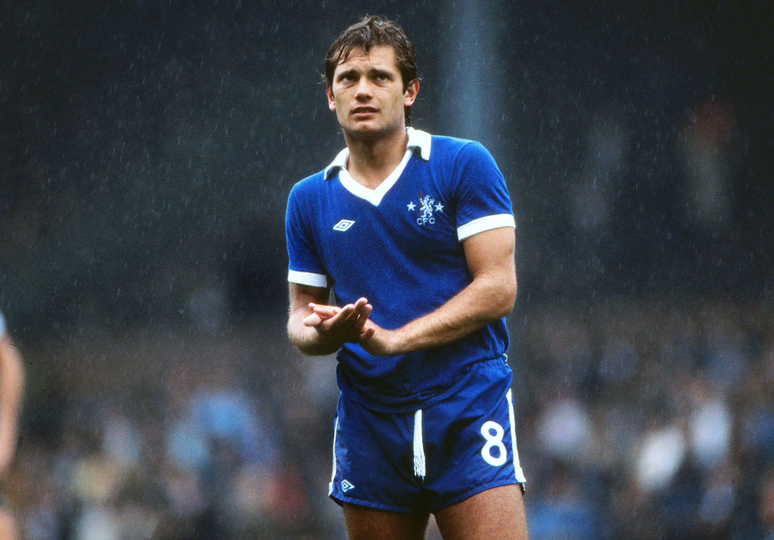 Mandatory Credit: Photo by Colorsport/REX/Shutterstock (3162518a) Football - Fulham v Chelsea 02/08/1976 Ray Wilkins - Chelsea Fulham v Chelsea Sport