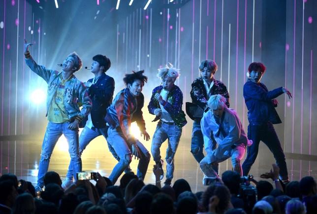 Mandatory Credit: Photo by Frank Micelotta/REX/Shutterstock (9229679dr) BTS American Music Awards, Show, Los Angeles, USA - 19 Nov 2017