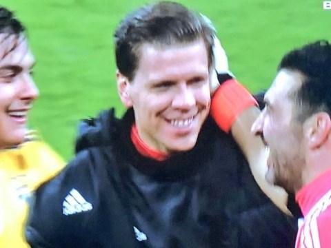 Wojciech Szczesny mocks Tottenham fans with 'chin up' gesture after Juventus win