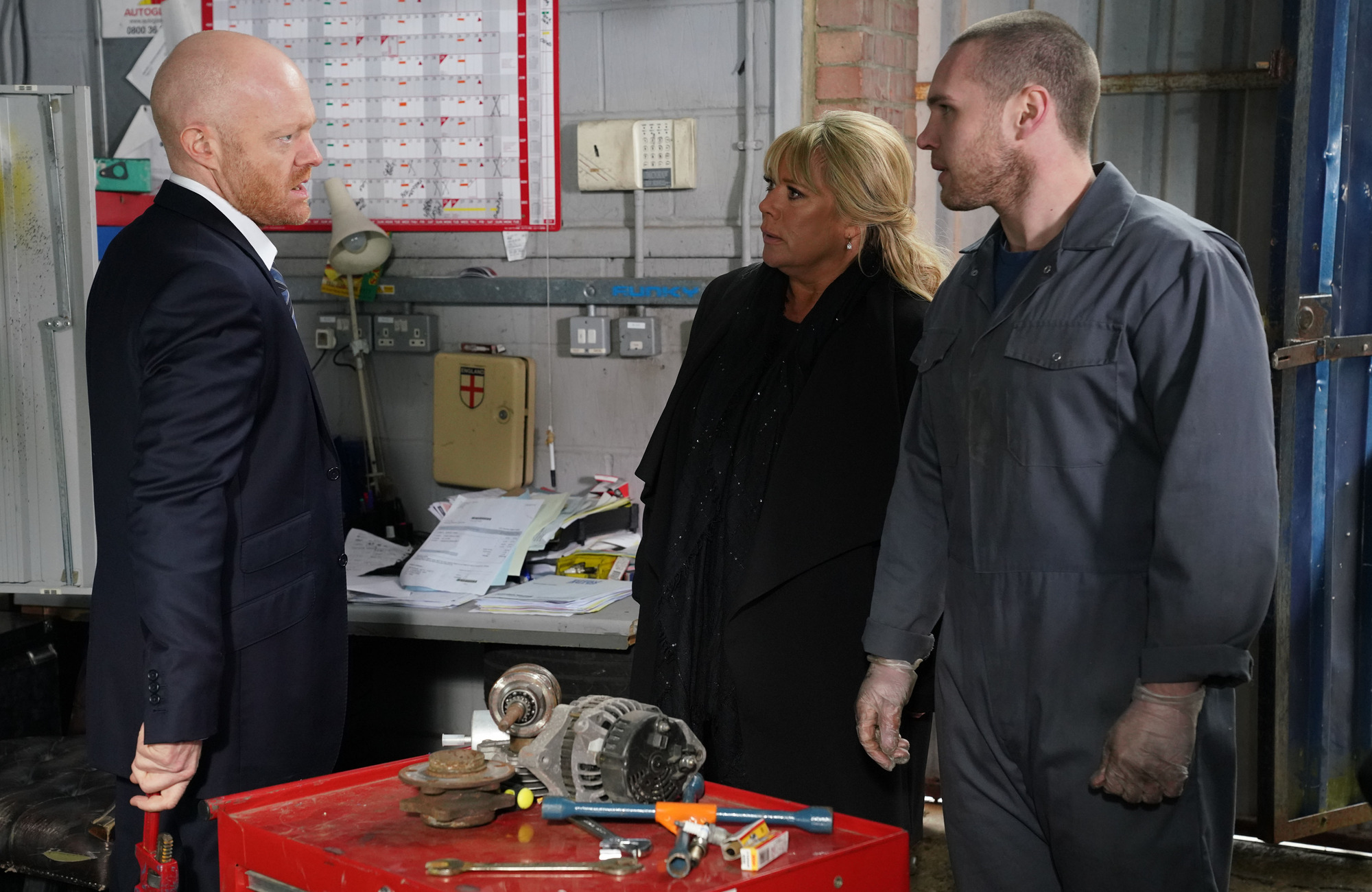 Max confronts Sharon in EastEnders