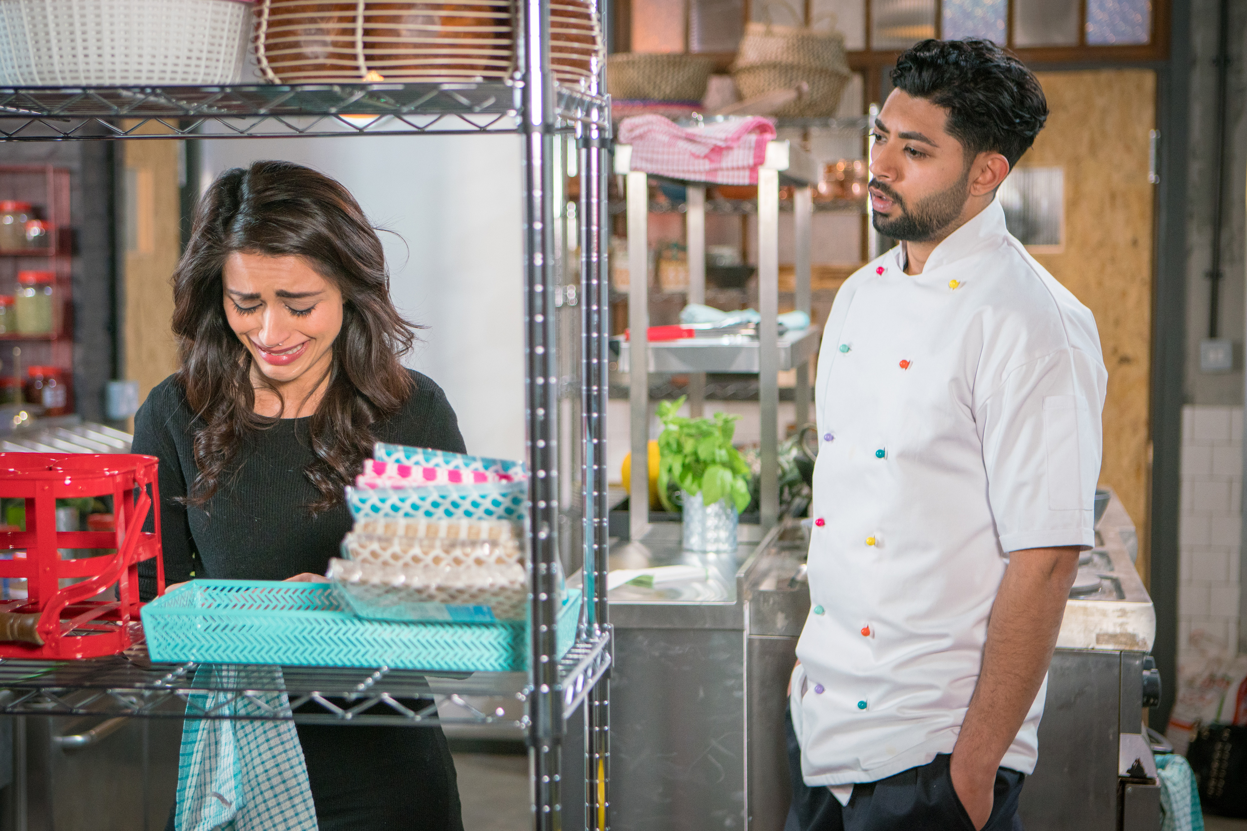 Zeedan and Rana argue in Coronation Street