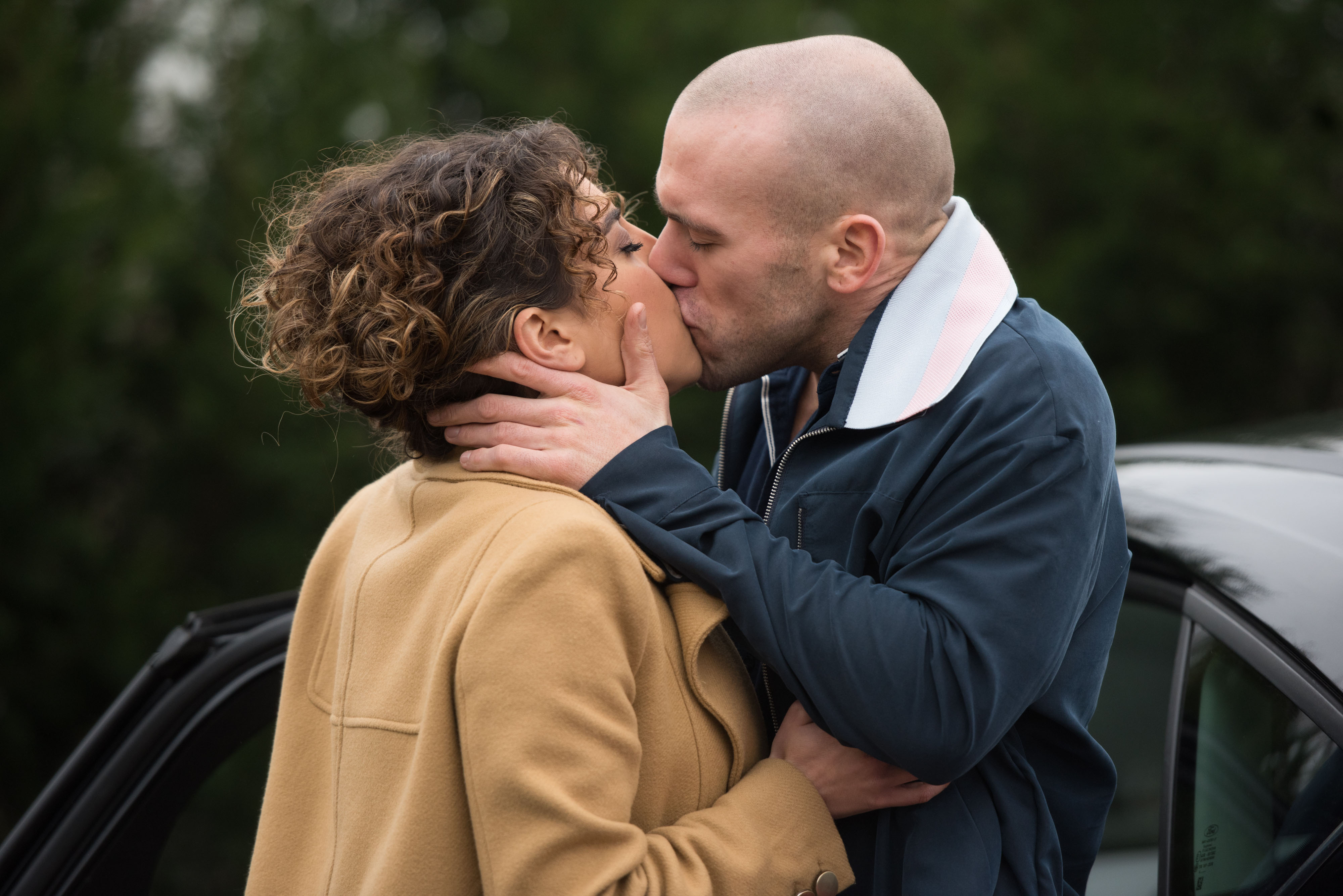Roxy and Adam kiss in Hollyoaks