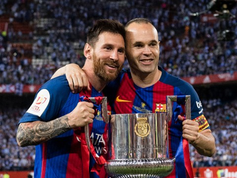 Lionel Messi sends classy message to Andres Iniesta after Barcelona midfielder confirms departure