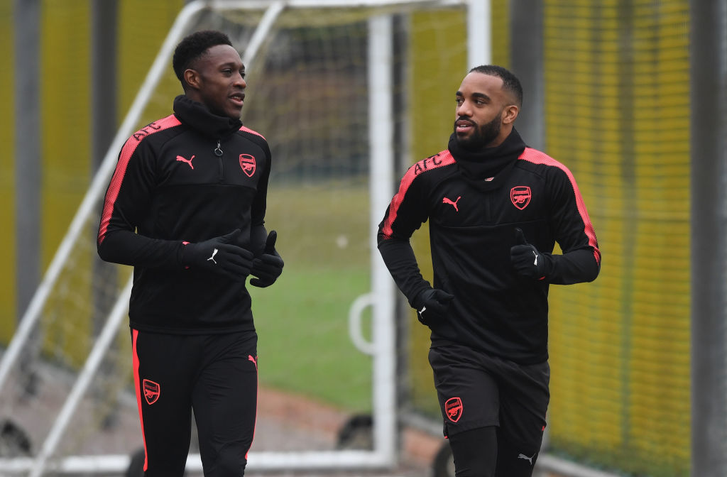 Arsenal team news: Alexandre Lacazette and Danny Welbeck paired together in attack
