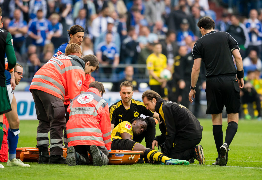 Chelsea loanee Michy Batshuayi confirms his season is 'probably over' due to serious ankle injury