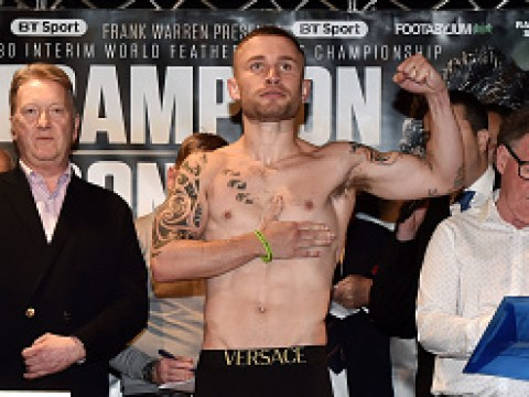 Carl Frampton makes weight for Nonito Donaire clash but forced to call out his own result
