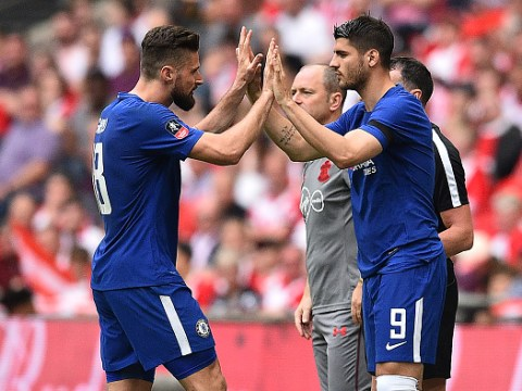Antonio Conte explains why Olivier Giroud started ahead of Alvaro Morata in Chelsea's FA Cup semi-final