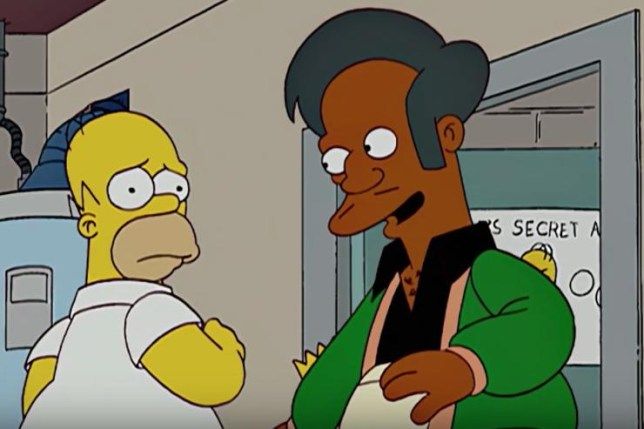 Homer Simpson and Apu
