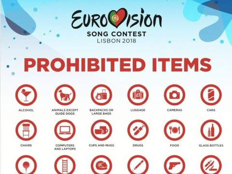 If you're attending Eurovision leave your golf balls and handcuffs at home