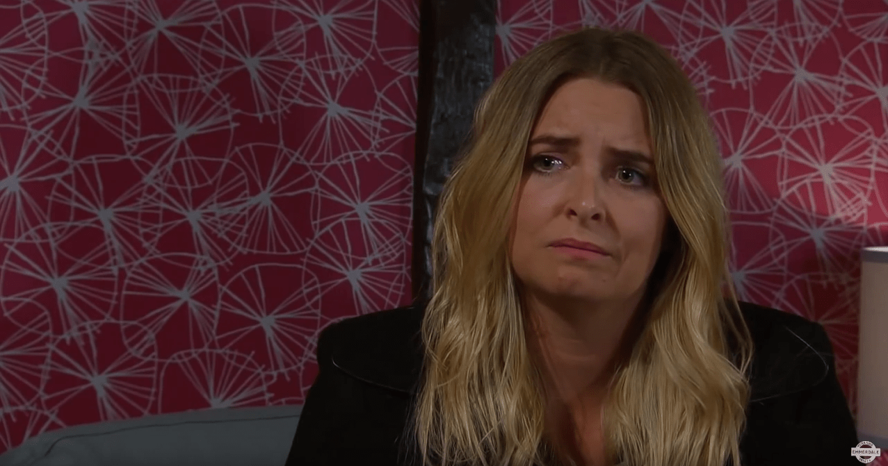 Charity makes a confession in Emmerdale