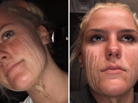 Girl learns the hard way why you should never cry after a spray tan