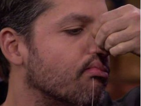 David Blaine horrifies people as he sews his mouth shut on Jimmy Fallon before vomiting up a live frog