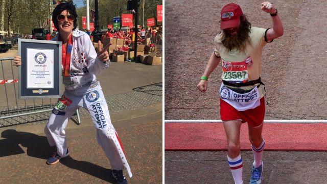 Elvis, Forrest Gump and a zombie smash world records at London Marathon