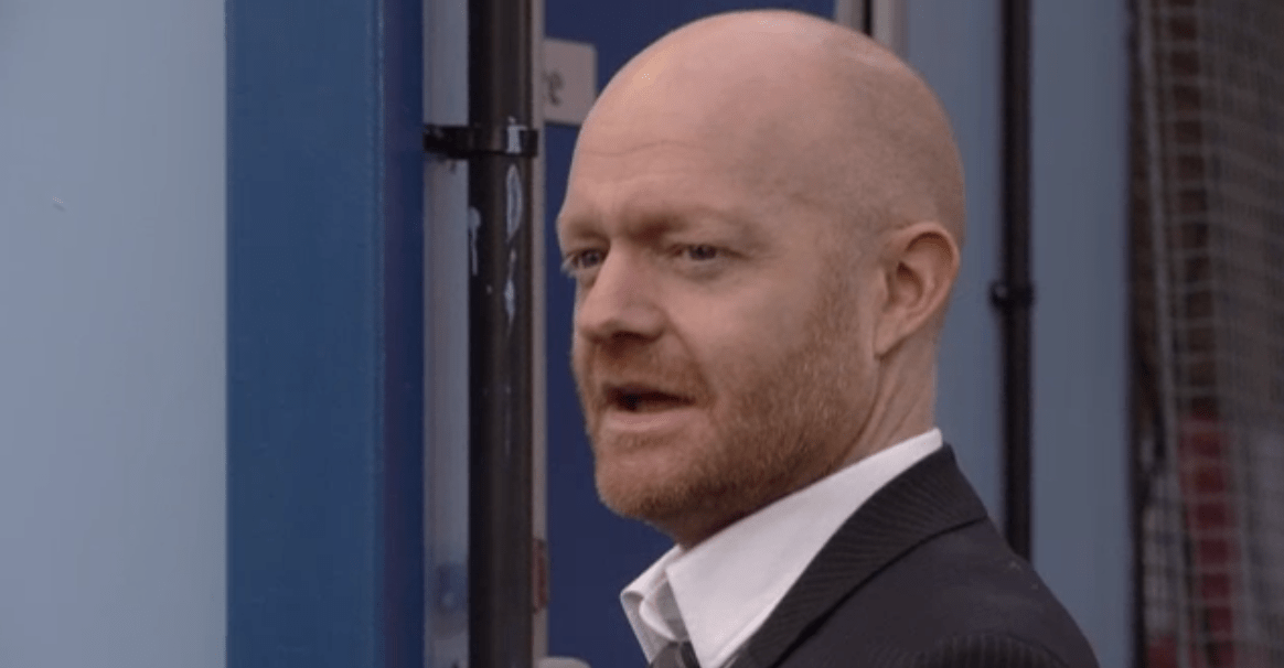 Max takes over the car lot in EastEnders