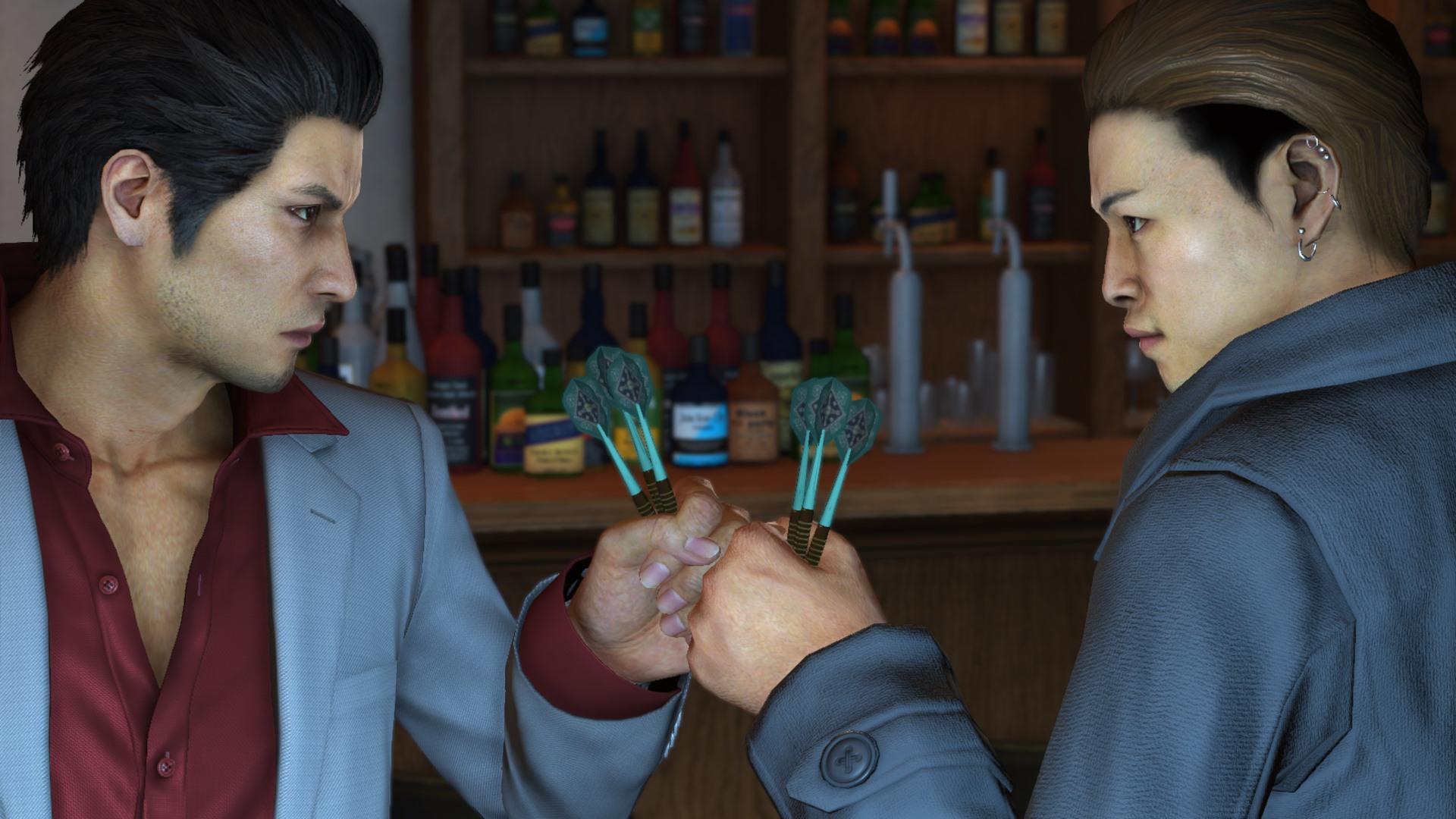 Yakuza 6 - darts is serious business