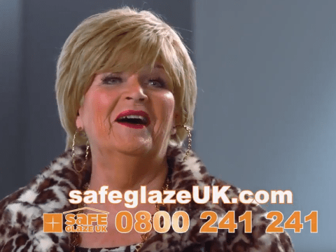 EastEnders Pat Butcher legend Pam St Clement is starring in a SafeGlaze UK windows advert