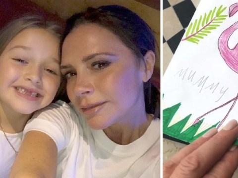 Victoria Beckham reveals daughter Harper calls her 'superhero mummy' in adorable Easter card