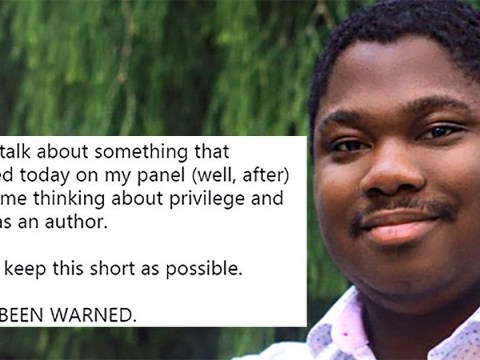 Queer black author talks about the moment he realised his male privilege on a panel