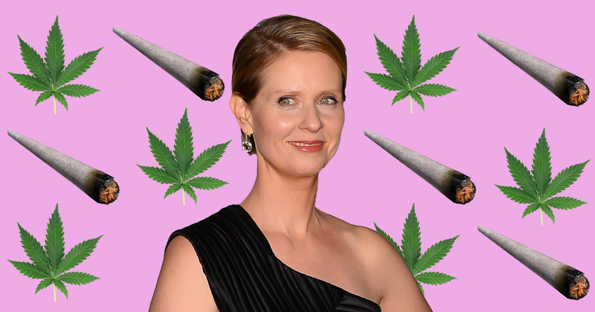Cynthia Nixon is 'absolutely for' legalising weed if she becomes Governor of New York