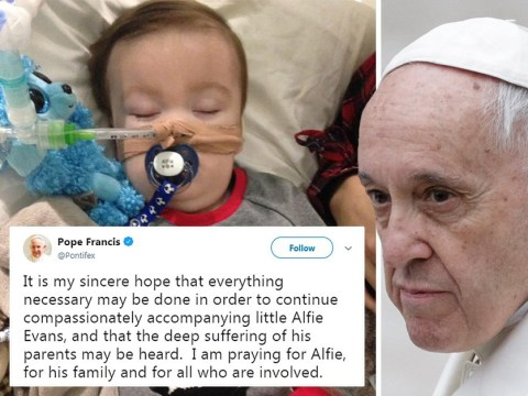 Pope Francis tweets 'sincere hope' baby Alfie Evans can be kept alive