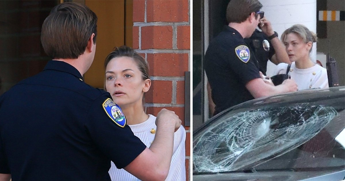 Jaime King's four-year-old son struck by glass as man attacks family car