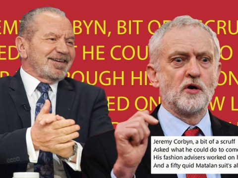 Lord Sugar wrote a poem about how much he hates Jeremy Corbyn