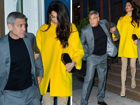 George and Amal Clooney are couple goals as they cosy up for date night