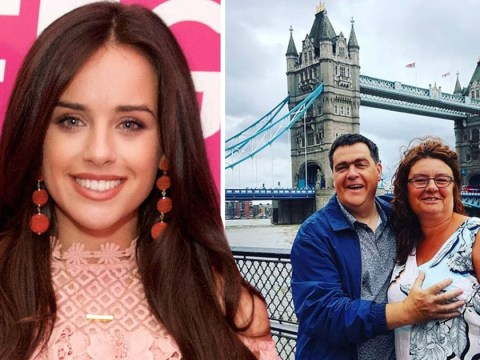 Georgia May Foote celebrates parents' wedding anniversary with cringe boob-grabbing pic