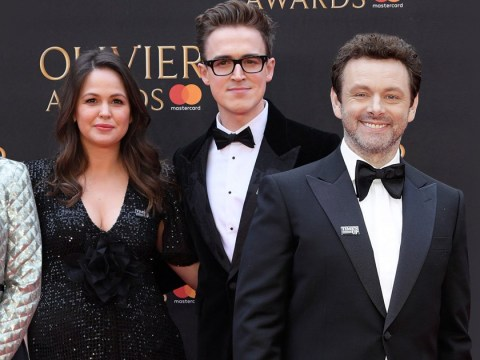 Michael Sheen, Mel Giedroyc and more support Time's Up at Olivier Awards