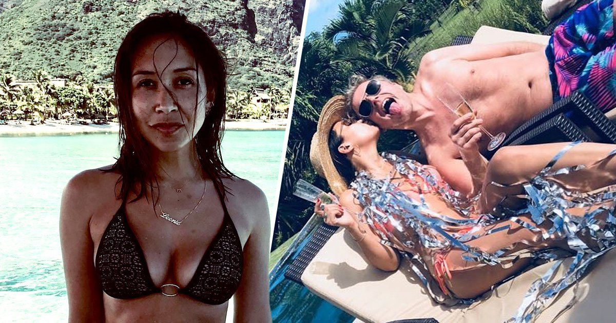 Myleene Klass continues to live her best life as she plants one on boyfriend during birthday celebrations