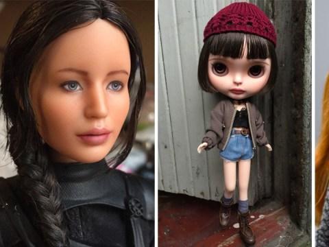 Woman sculpts Barbie dolls into famous actresses