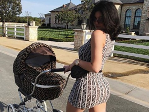 Kylie Jenner is extra AF as she matches Fendi mini-dress to Stormi's pram