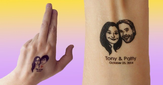 You can get personalised temporary tattoo wedding favours | Metro News