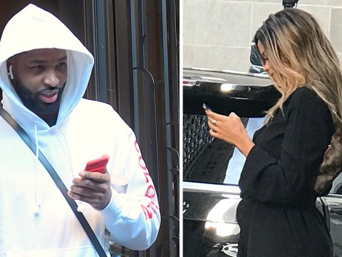 Tristan Thompson pictured with another woman amid cheating scandal as Khloe Kardashian gives birth