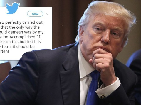 Trump defends his 'Mission Accomplished' tweet on Syria