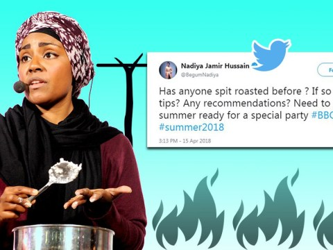 Bake Off's Nadiya Hussain asks Twitter about spit-roasting and everyone lost it